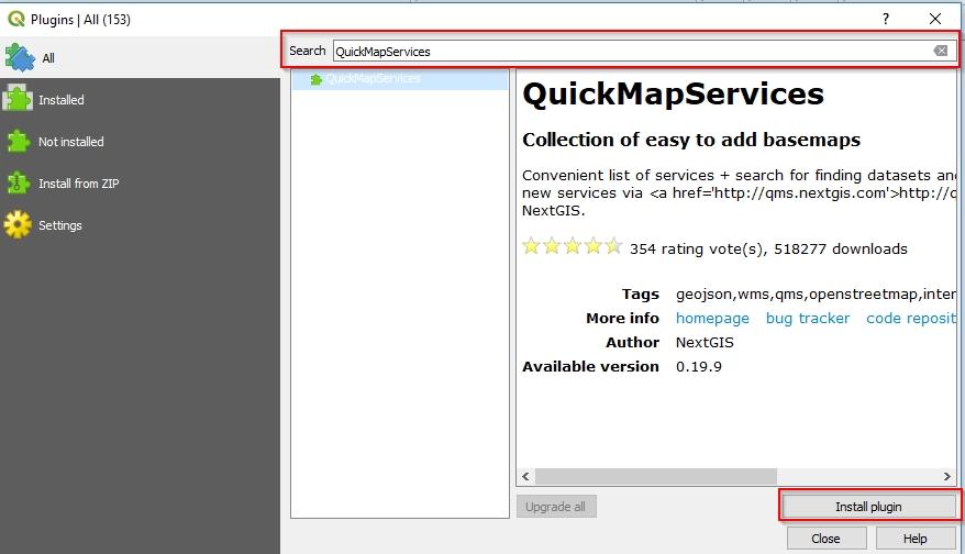 QGIS QuickMapServices